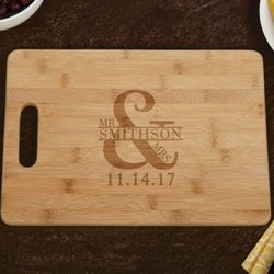 Marriage Bamboo Cutting Board