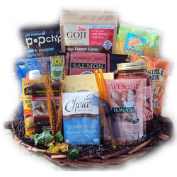 Deluxe Sympathy Healthy Gift Basket