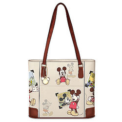 Disney Mickey Mouse Women's Handbag with Vintage-Style Art