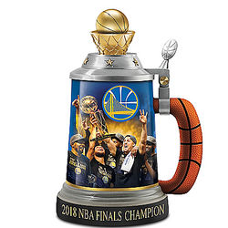Warriors 2018 NBA Finals Champion Porcelain Stein