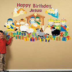 Happy Birthday Jesus Classroom Scene Set