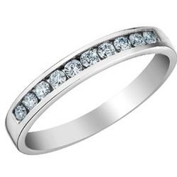 Diamond Anniversary and Wedding Band in 10K White Gold