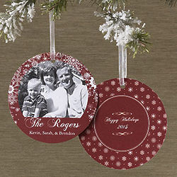 Personalized Hanging Ornament Photo Christmas Cards