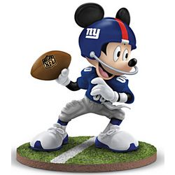 Giants 2012 Super Bowl Champions Mickey Mouse Figurine