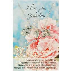 I Love You Grandma Necklace and Poem
