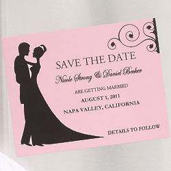 Save the Date Bride & Groom Silhouette Magnets