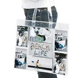 Modern Photo Pocket Tote Bag