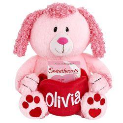 Personalized Valentine Plush Poodle Pocket Pet