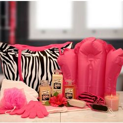 Jasmine and Vanilla Spa Zebra Gift Tote