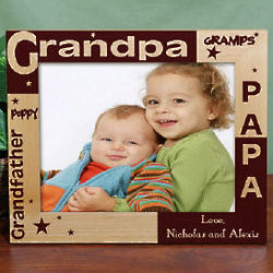 Personalized Grandpa Wooden Photo Frame