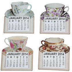 2014 Tea Cup Magnetic Calendars