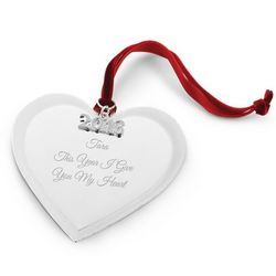2013 Heart Christmas Ornament