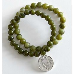 2 Irish Lucky Penny Stretch Bracelets