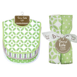 Lauren Mealtime Bib and Burp Cloth Set
