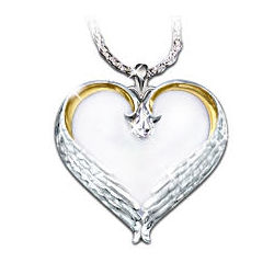 Forever in My Heart Sterling Silver Heart Shaped Pendant Necklace
