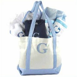 Personalized Baby Boy's Overstuffed Gift Tote