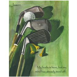 Golf Lover Personalized Fine Art Print
