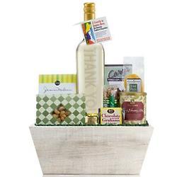 Thank You Wine Bottle Gift Basket