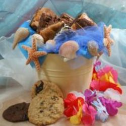 Summer Beach Cookie and Brownie Gift Bucket