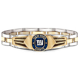 New York Giants Men's Stainless Steel Bracelet