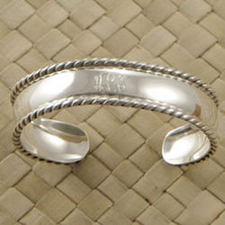 Sterling Silver Personalized Children's Braided Cuff
