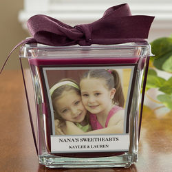 Personalized Photo Candle in Mulberry Scent