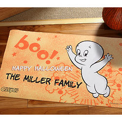 Personalized Casper the Friendly Ghost Halloween Doormat