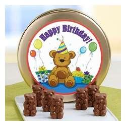 Happy Birthday! Teddy Bear Milk Chocolates Tin