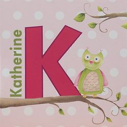Owl About You Personalized Kid's Canvas Name Art