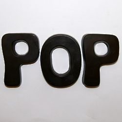 Pop Chocolate Letters