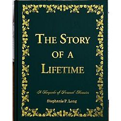 Personalized Green Leatherette Story of a Lifetime Journal