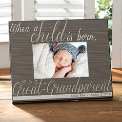 Great-Grandparent is Born Personalized Picture Frame