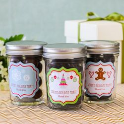 Holiday Personalized Mason Jars