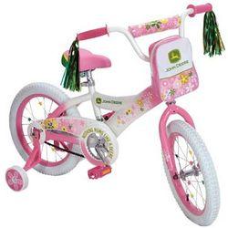 """John Deere 16"""" Girls Pink Bicycle"""