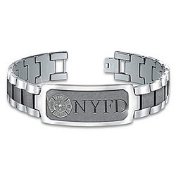 Firefighter's Duty, Honor and Courage Stainless Steel Bracelet