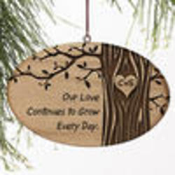 Carved in Love Personalized Ornament