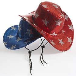 Patriotic Sequin Cowboy Hat