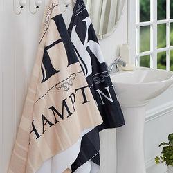 Personalized Elegant Monogram Bath Towels