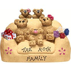 Personalized Couple and Kids in Family Chair
