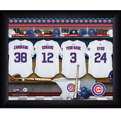 Personalized Chicago Cubs MLB Locker Room Framed Print