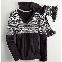 Sweater and Scarf Set