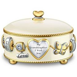Granddaughter I Wish You Heirloom Porcelain Music Box