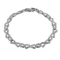 Hugs and Kisses Diamond Tennis Bracelet