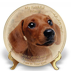 My Faithful Friend Dog Lover Collector Plate