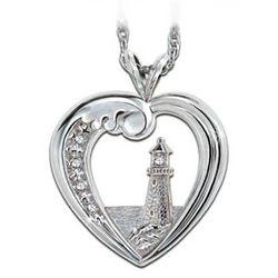 Thomas Kinkade Beacon of Hope Lighthouse Necklace