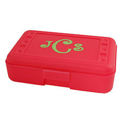 Personalized Hot Pink Pencil Box