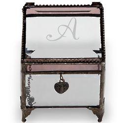 Personalized Single Initial Glass Trinket Box