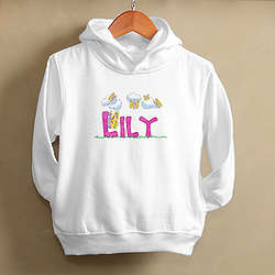Personalized Girl's Butterfly Sweatshirt Hoodie