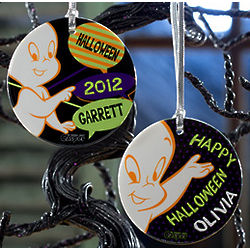 Personalized Casper The Friendly Ghost Halloween Ornament