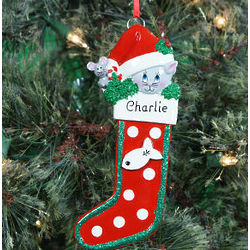 Personalized Cat Stocking Ornament